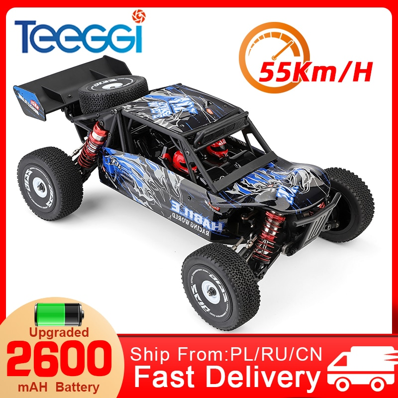 WLtoys 124018 124019 RC Car 1:12 55km/h High Speed 4WD Off-Road 2.4G Radio Control Remote Electric C