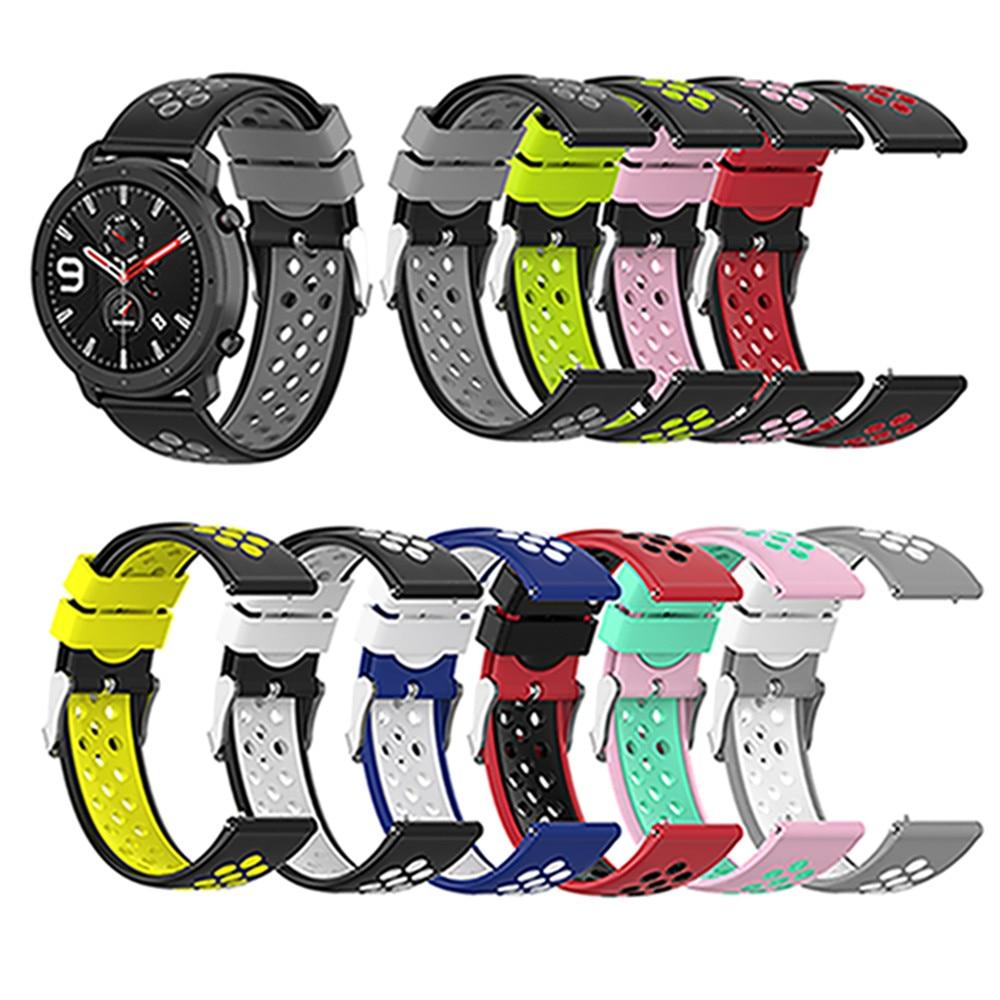 Correa de reloj de silicona Universal de 22mm para Ticwatch pro/E2/S2 para Huawei/Samsung/Asus/ correa de muñeca de repuesto para reloj LG/Garmin