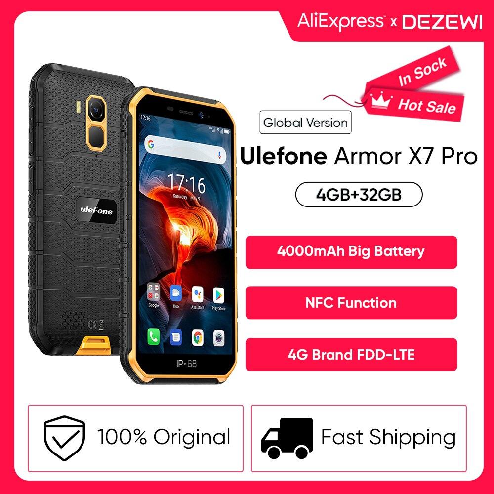 Перейти на Алиэкспресс и купить Ulefone Power X7 Pro Android10 прочный телефон 4 Гб Оперативная память смартфон Водонепроницаемый мобильный телефон сотовый телефон ip68 NFC 4 аппарат не при...