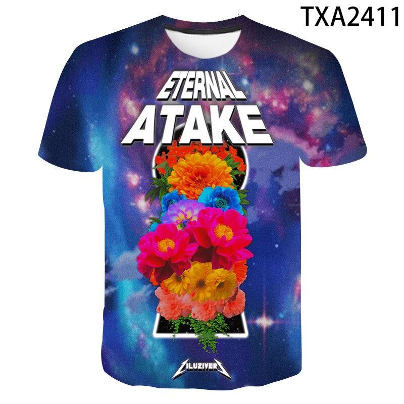 2020 hombres mujeres niños eterno Atake camiseta 3D impreso Tee verano manga corta Tops Niño con estilo chica niños camiseta Streetwear