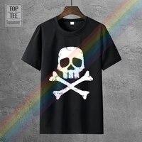 t shirt space pirate captain harlock skull and cross bones mens short sleeve t shirt
