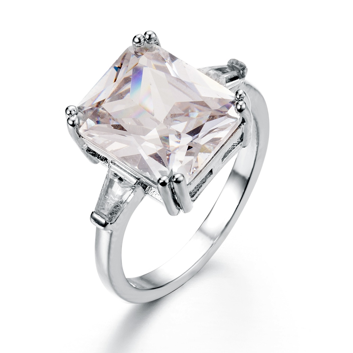 Женское кольцо из серебра 925 пробы с инкрустированным белым золотом и цирконием, обручальные свадебные подарки, серебряные ювелирные издел...