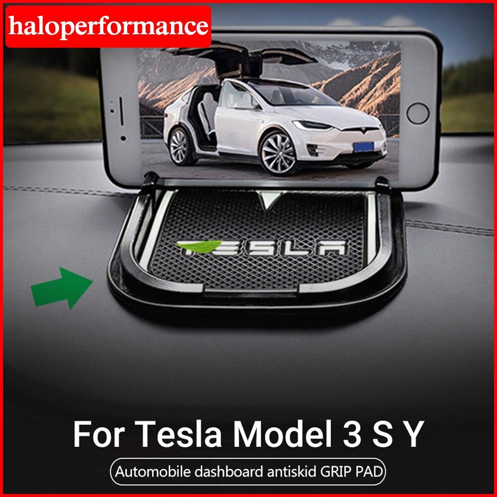 Alfombrilla de silicona antideslizante Model3 Tesla para teléfono de coche para Tesla Model 3 accesorios Modelo 3 Tesla Model S X Y modelo tres 2020