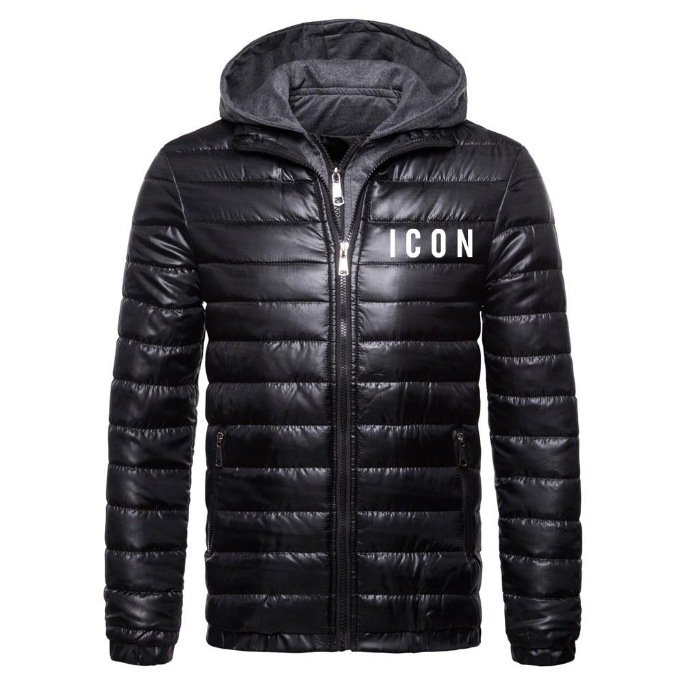 Высококачественные осенне-зимние мужские куртки с принтом в стиле Харадзюку, новинка 2021, мужские пуховики