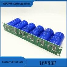 Condensador de Farad 2.7v500f, 6 uds./1 Juego, supercondensador 16v83f para automóvil con placa protectora