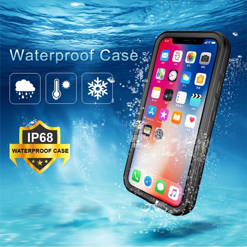 Funda impermeable para iPhone 7 8 Plus 6 6S SE a prueba de polvo a prueba de golpes natación funda de buceo para iPhone X XR XS Max funda subacuática