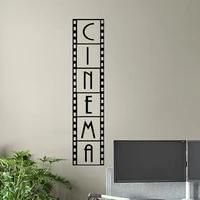 Cinema mur decalcomanie Film bande Film affiche Home cinema signe citation vinyle autocollant cadeau video decor Film cadre mur Art LL2168