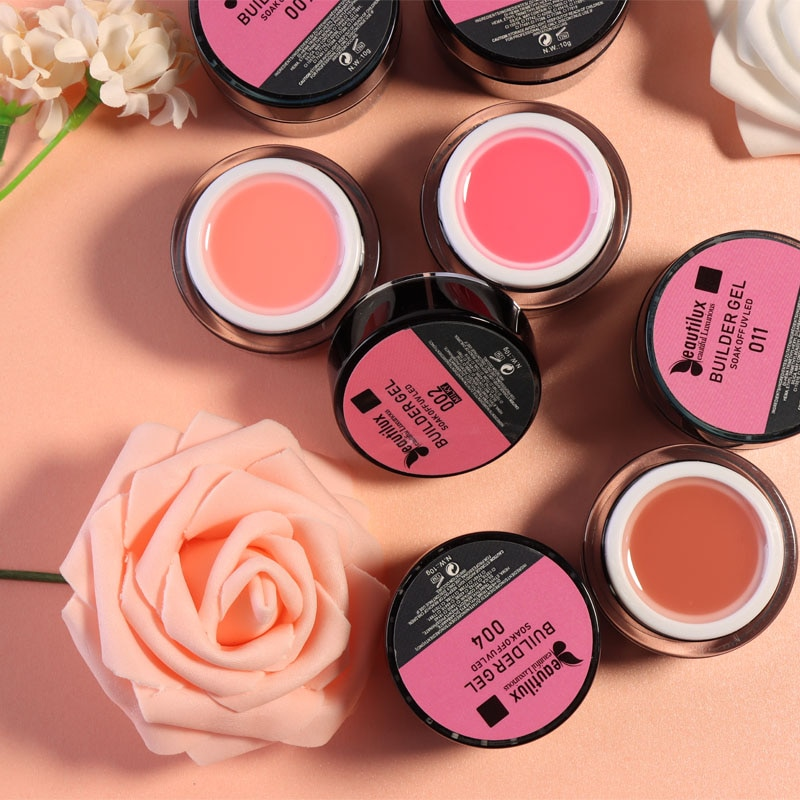 AliExpress - Beautilux Soak Off Hard Builder Gel UV LED Clear Pink Nude Camouflage Milky Nail Enhancement Extension Gel Nails Art Design 10g