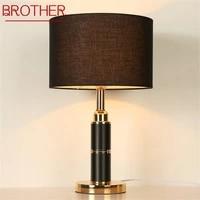 brother table lamps modern luxury design led black desk light decorative for home bedside