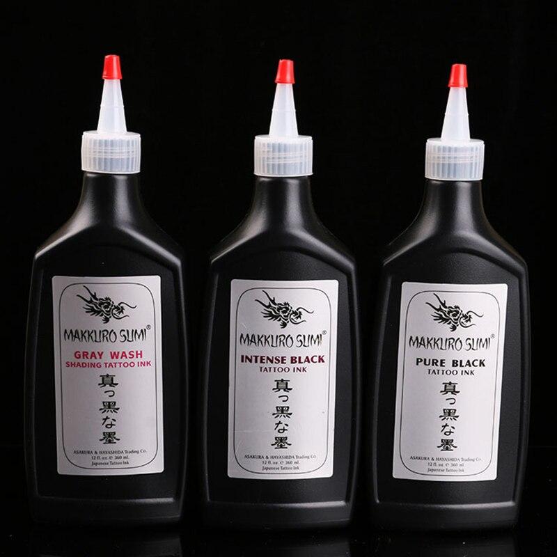 12 oz Black Tattoo Ink Set Beauty&Health Inks 360ml Black Ink Permanent Makeup Body Art Painting Pigment supplies(Color:Black)