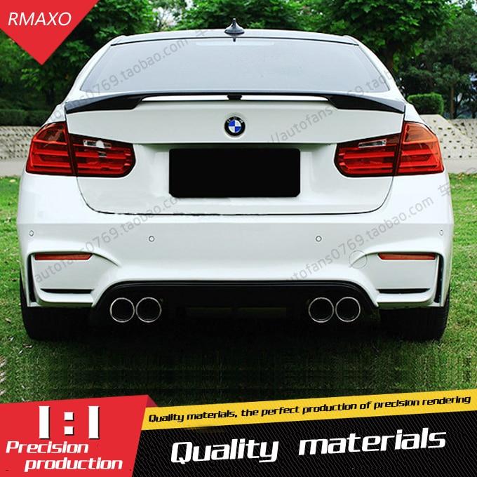 For BMW F30 F35 Spoiler KERSCHER ABS Car Rear Wing unpaint primer Spoiler For BMW M3 320i  323i  325i  328i Spoiler 2012-2015