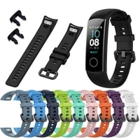 silicone strap for huawei honor bracelet 5 smart watch sport bracelet replacement band for huawei honor bracelet 5 watch strap