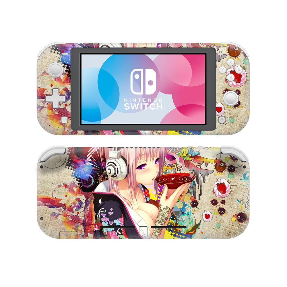 Anime Cute Girl Skin Sticker Decal For Nintendo Switch Lite Console Protector Joy-con Case Nintend Switch Lite NSL Skin Sticker