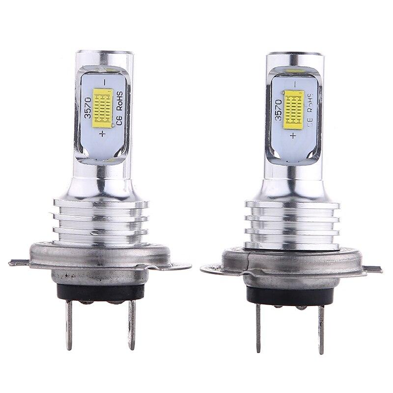 Minifaros LED CSP H7 para coches, 2 uds., faros delanteros H7 80 W 3570, luz led antiniebla dorada, azul glaciar, 6000k 80 W, Luz antiniebla para coche 12V