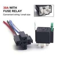 6set 4 pin 5 pin automotive relay 12v24v 30a car relay 14awg copper wire relay harness kit for car lights wiper starter audio