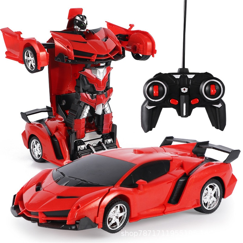 2 in 1 Electric RC Car Transformation Robots Children Boys Toys Outdoor Remote Control Sports Deform
