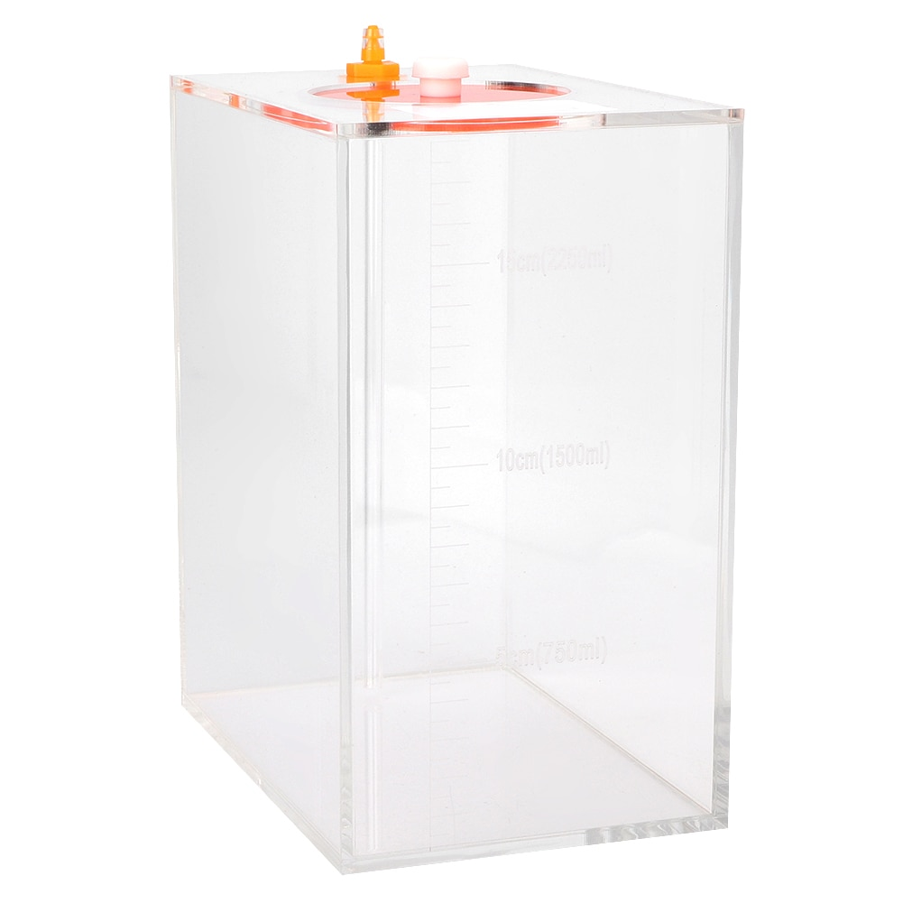 Transparent Acrylic Dosing Pump Store Reservoir Barrel Titration Tank Aquarium Titration Storage Solution Barrel Titration Box