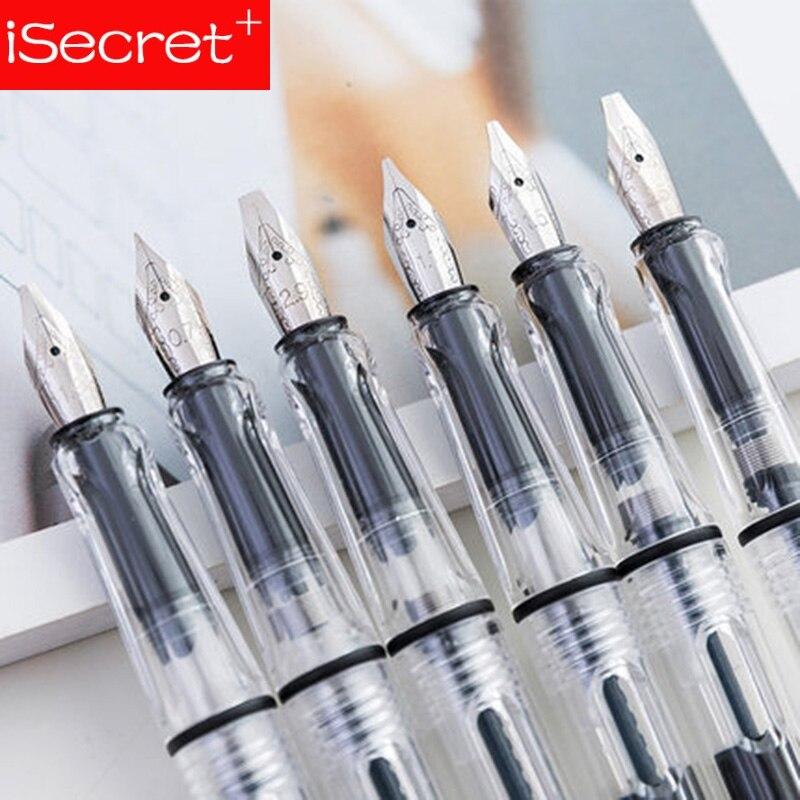 Transparente pluma 8 plumas/0,38/0,5/0,7/1,5/1,1/1,9/2,5/2,9mm reemplazar tinta paralelo de la pluma de la Cancillería de la escuela plumas de caligrafía