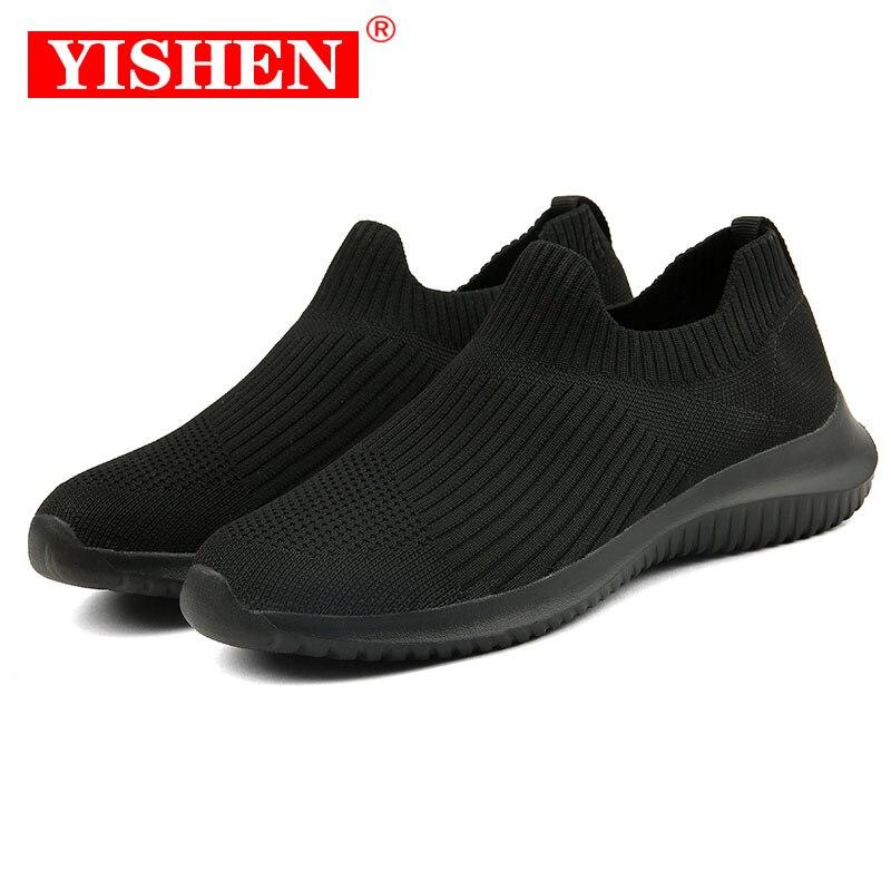 YISHEN Women Casual Shoes Fashion Breathable Walking Mesh Flat Sneakers Women Gym Vulcanized Shoes W