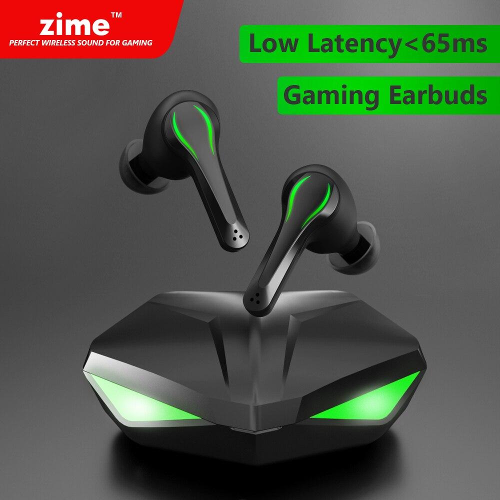 Zime Winner الألعاب سماعات 65ms منخفضة الكمون TWS بلوتوث سماعة مع هيئة التصنيع العسكري باس الصوت لتحديد المواقع PUBG سماعات رأس لاسلكية