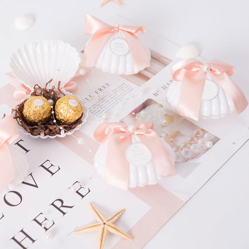 Caja de regalo de caja de dulces de 20 pc, caja de regalo, caja de anillo de boda de estilo occidental romántica los modelos