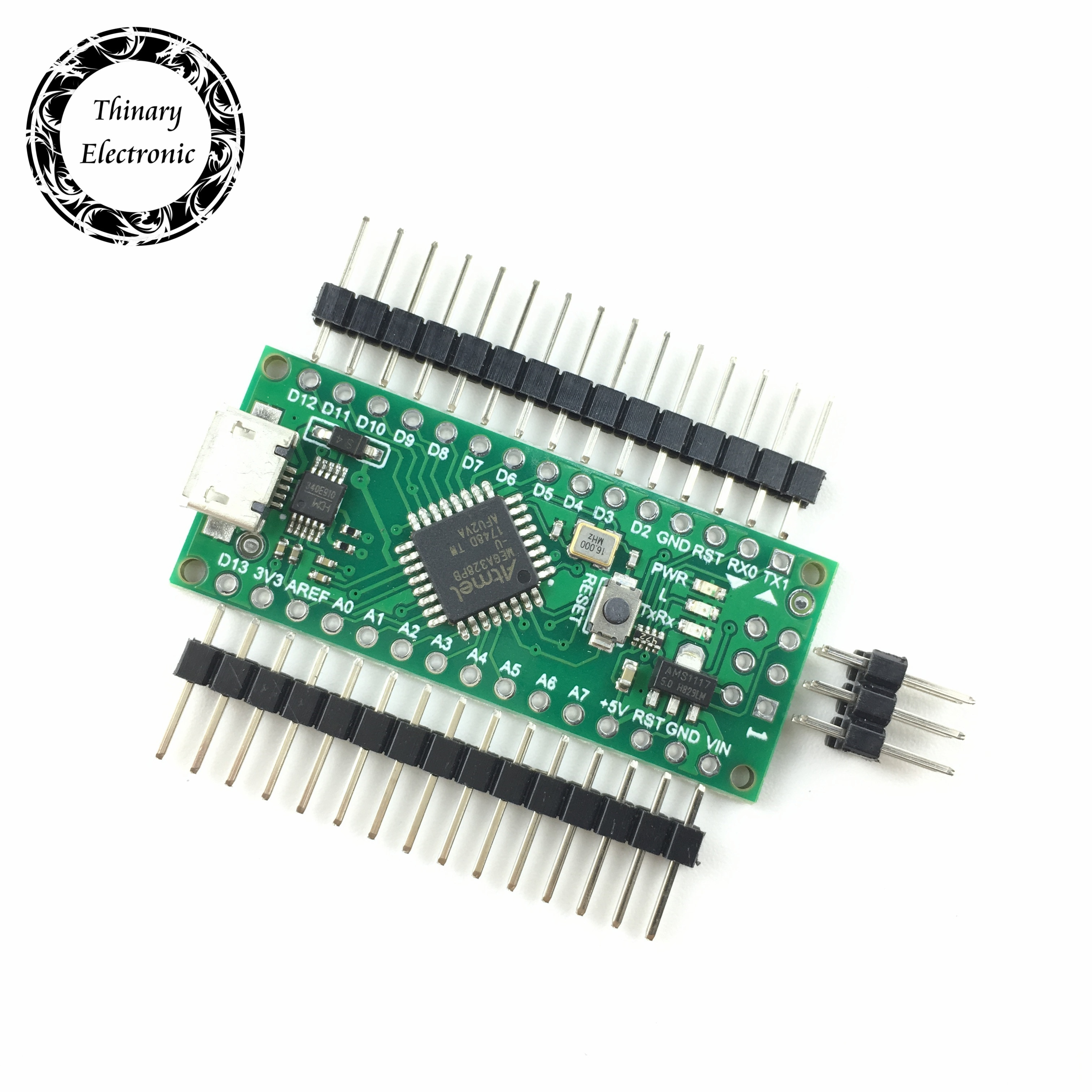Gran oferta Nano 3,0 controlador compatible con arduino nano Atmega328 serie CH340 controlador USB con CABLE NANO V3.0