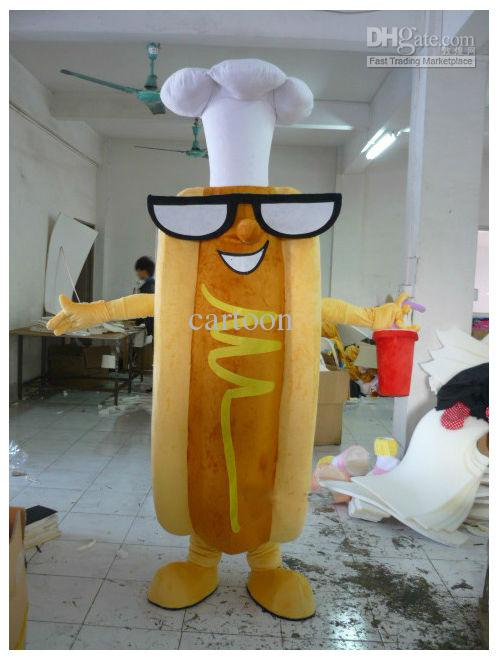 Versión clásica Mr Hotdog perro caliente mascota disfraz adulto Halloween fiesta de cumpleaños dibujos animados ropa Cosplay disfraces