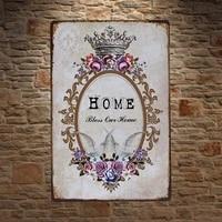 1 piece Home Sweet Home Benir Citations Plaque Detain Signe mur Chambre caverne dhomme Decoration Art Livraison Directe Affiche en metal