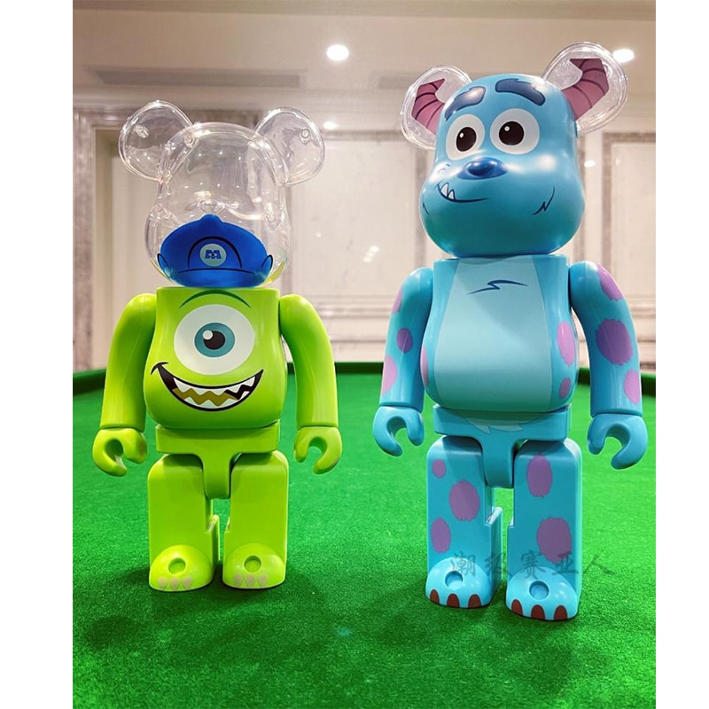 Bearbrick 28Cm 400 100% Be@rbricksulley Mike Furry Big Eye Monster Kaw Modern Home Office Decoration Toy Valentine's Day Gift