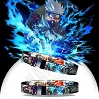 cartoon wristband japanese anime collection ninja hatake kakashi ribbon bracelet for adult and children