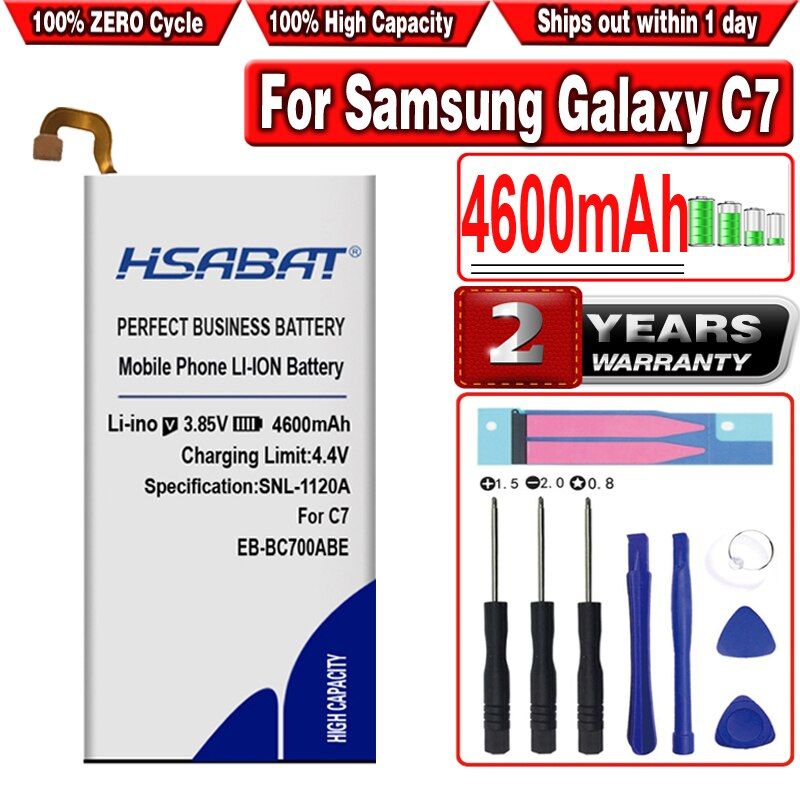 HSABAT EB-BC700ABE 4600mAh batería para Samsung Galaxy C7 SM-C7010 Duos C7018 C7 Pro Duos SM-C701F/DS TD-LTE SM-C7000