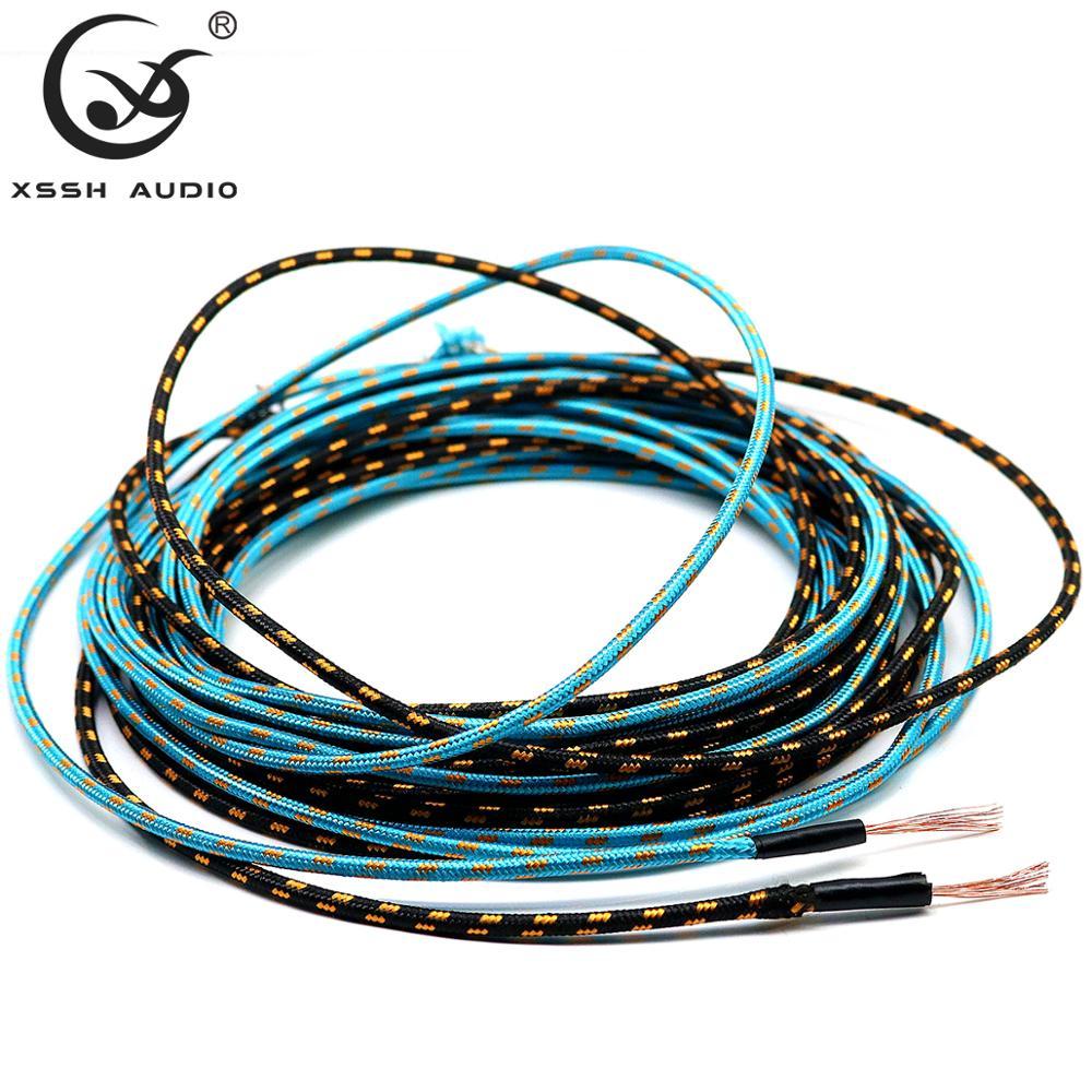 10m/20m HiFi DIY 3mm OD kolory płaszcza małe 16 rdzeń 0.25mm OFC czysty drut miedziany 1.2mm wewnętrzny instrument głośnik Audio kabel