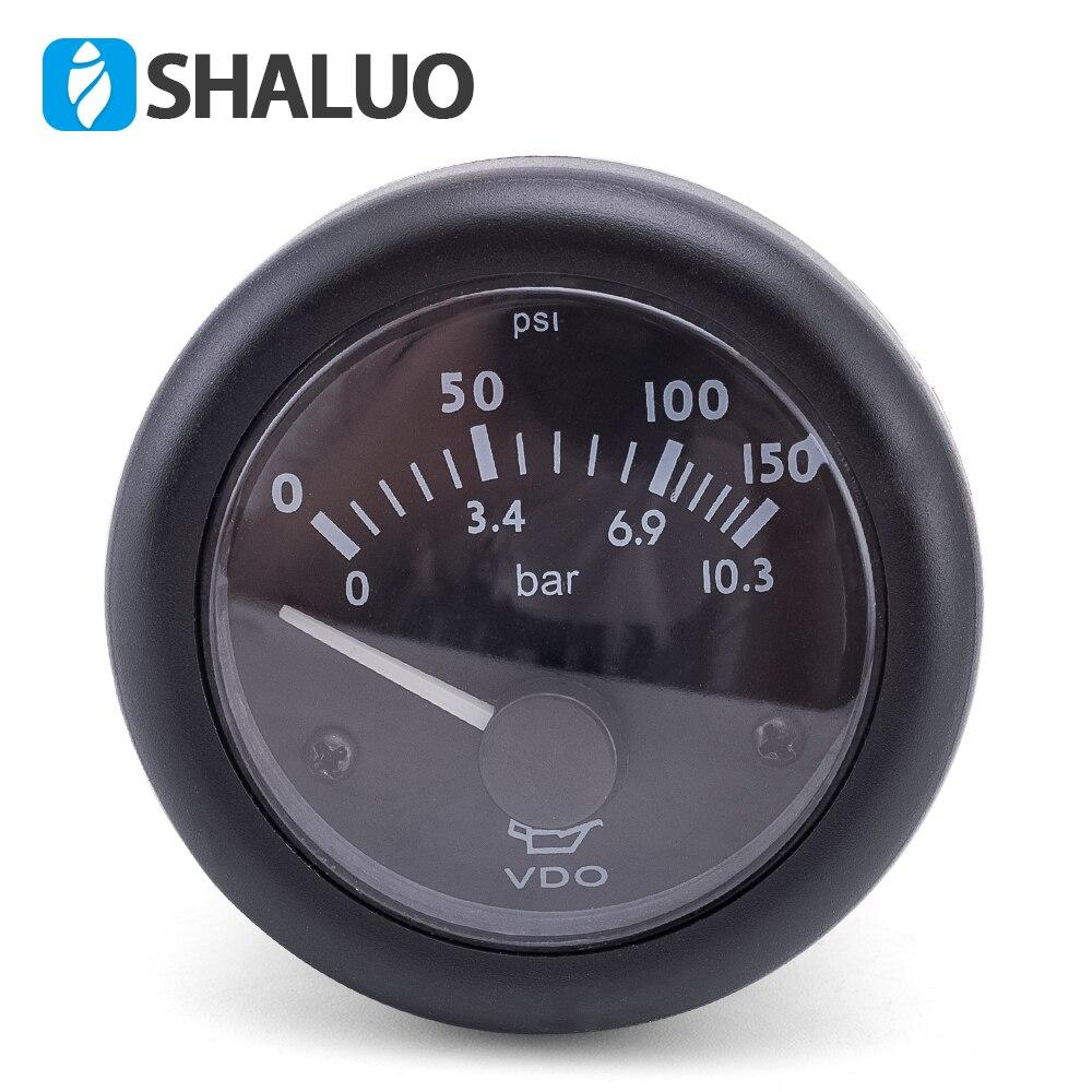 Medidor de presión de aceite VDO, medidor de presión de motor diésel, medidor de presión de aceite 12V24V opcional