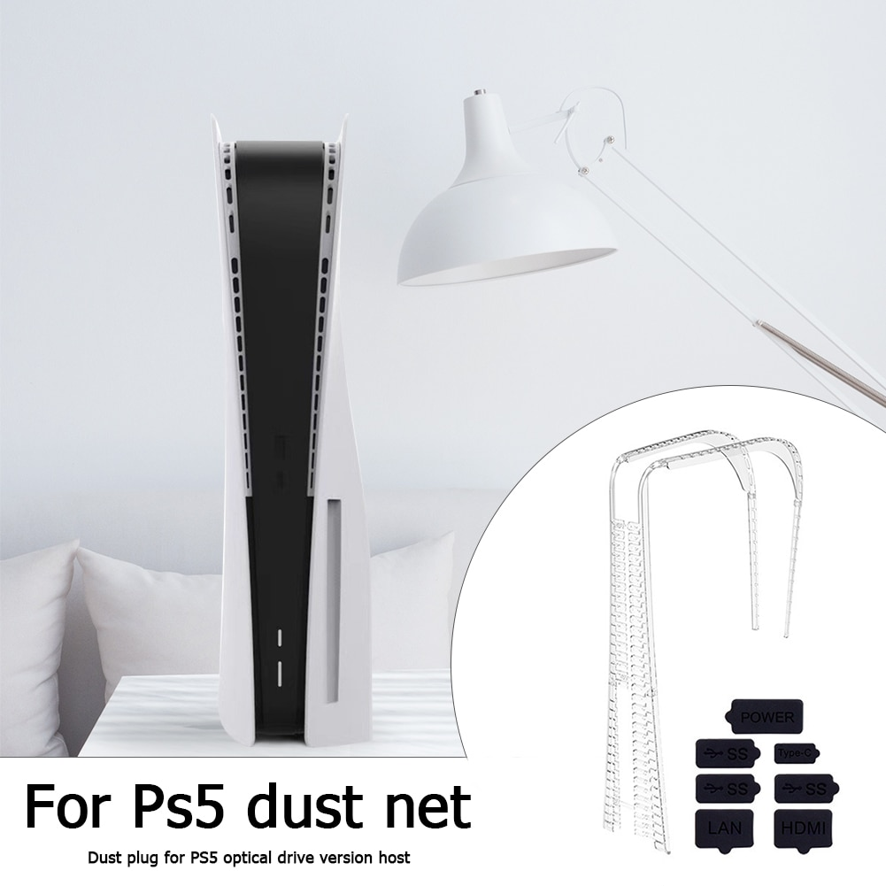 Silicone Dust Plug for PS5 Gaming Console Dust Proof Cover Stopper Kits USB HDM Interface Anti-dust