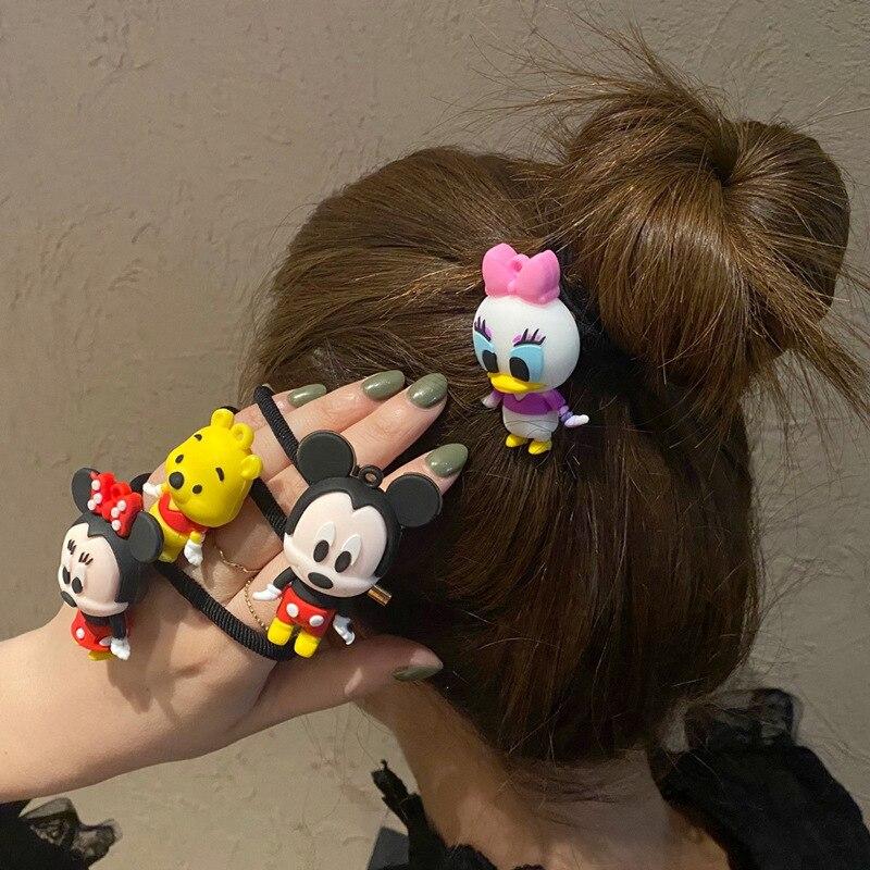 Bonita cinta para el pelo de Mickey de chica de dibujos animados muñeca Minnie Anime Daisy Donald diadema para chico lazo para cabello anudado soporte para la cabeza regalo