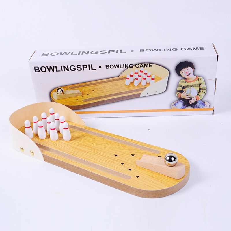 Children's wooden board game mini bowling toy intellectual parent-child interaction decompression toy enlarge