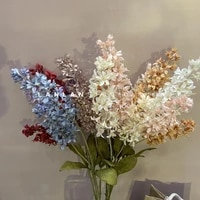 1pcs 2 heads hyacinth artificial silk flowers thanksgiving day floral decor wedding party home decoration accessories