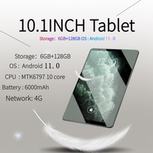 10.1 Inch TABLET ANDROID 11 6GB+128GB Netbook 1920x1200 Tablets PC 10Core Tablette Dual 4G Laptops 1