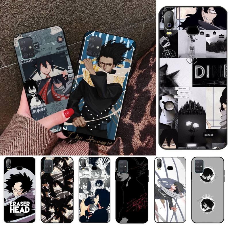 Cabeza de borrador HPCHCJHM, funda de teléfono de TPU suave de silicona Shota Aizawa My Hero para Samsung A10, A20, A30, A40, A50, A70, A71, A51, A6, A8, 2018