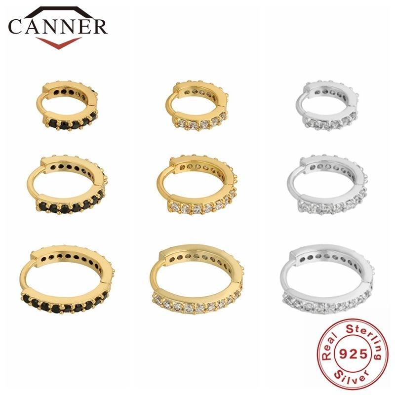 1-комплект-canner-100-Настоящее-серебро-925-пробы-Серьги-кольца-для-женщин-Циркон-cz-Круглые-круглые-серьги-Свадебные-ювелирные-изделия