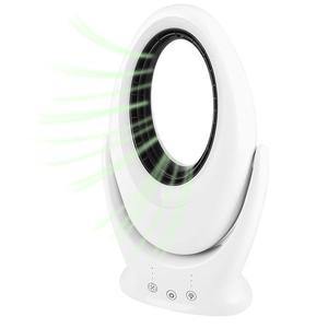 Bladeless Fan with 7 Color LED Nihgt Light USB Rechargeable Silent Table Fan Outdoor Home Electric Fan Air Cooler