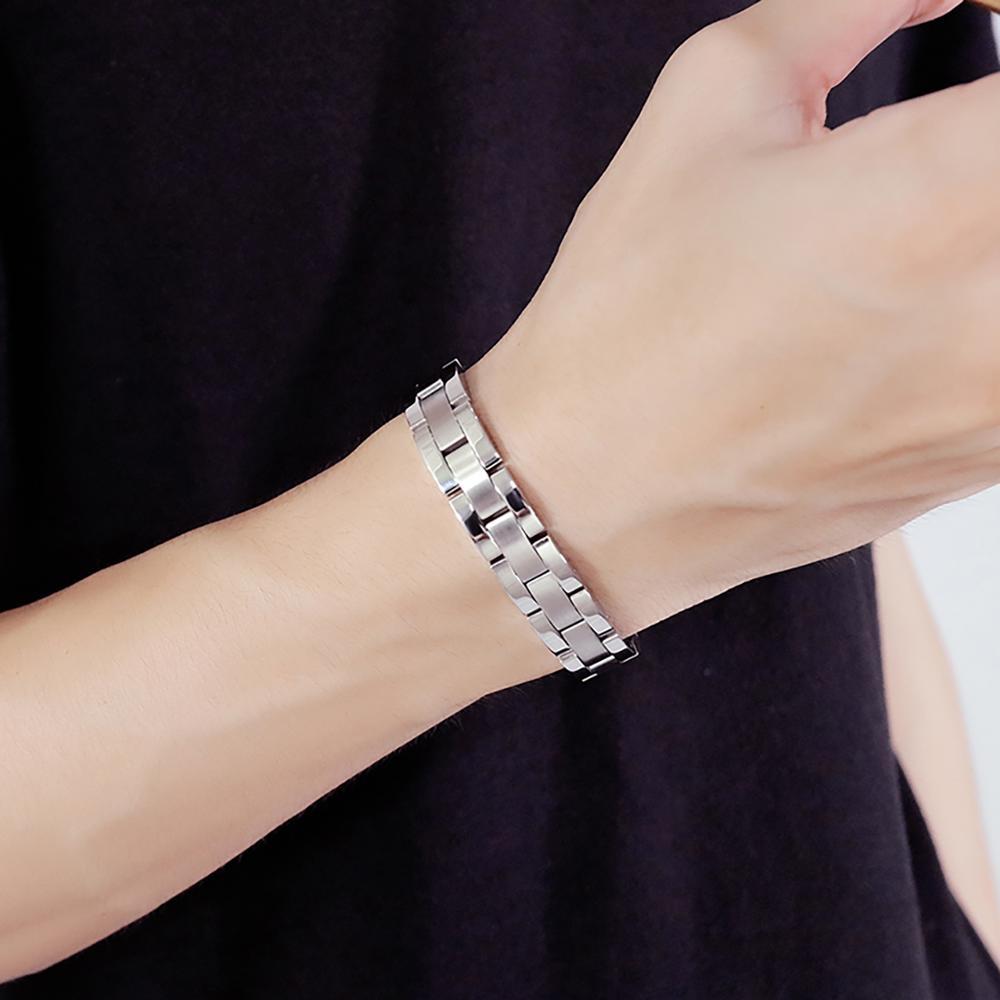 Magnetic Männer Armband handgelenk band männer einstellbare Kette pulseira magnetica Edelstahl Armbänder Armreifen Mode Charme Geschenke