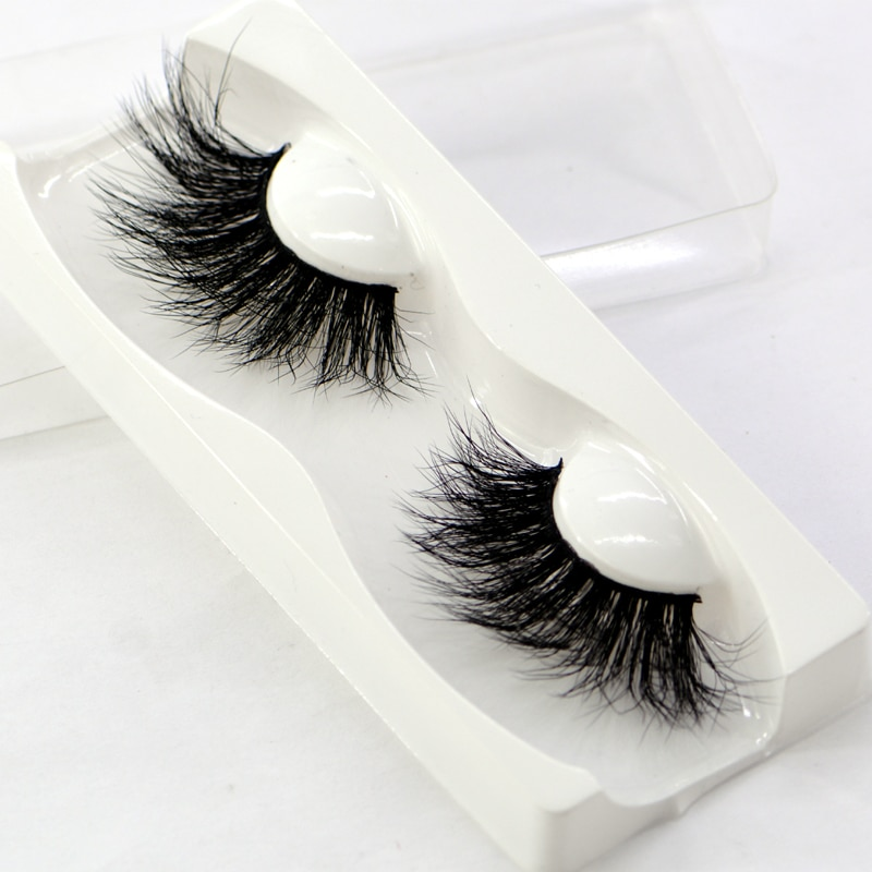 NEW 25mm 100% handmade natural thick Eye lashes wispy makeup extention tools 3D mink hair volume sof