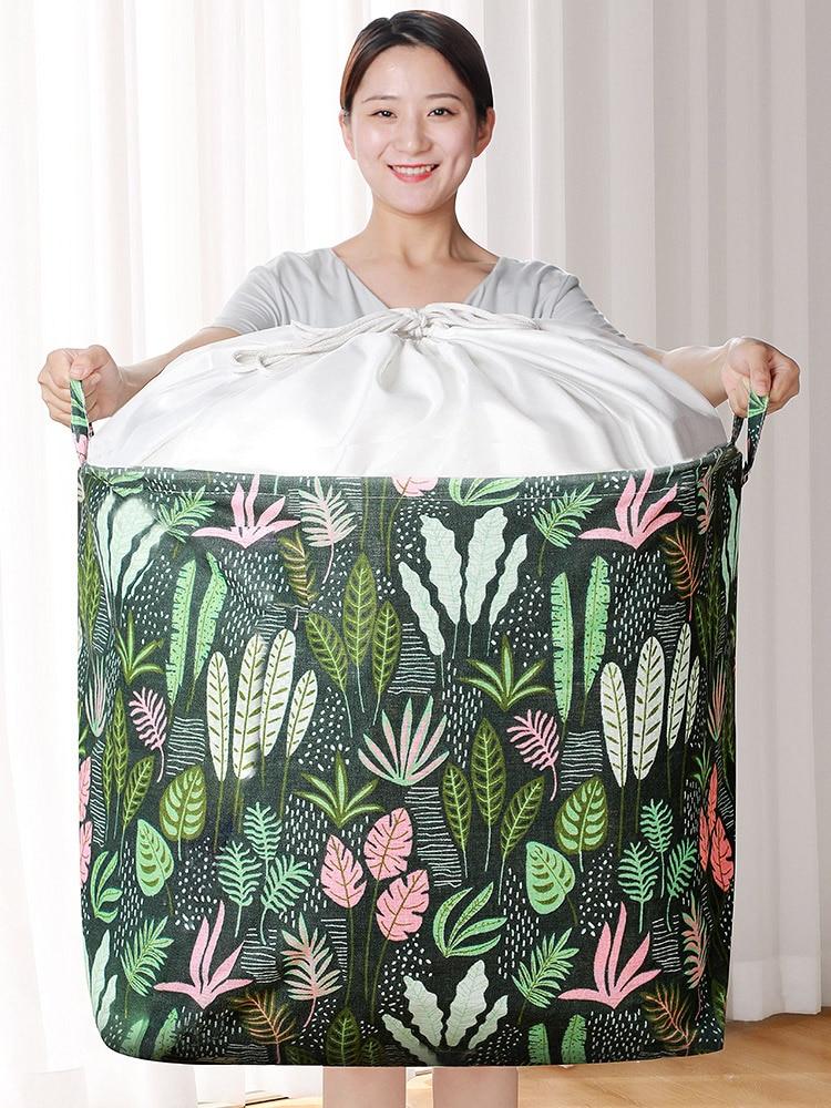 JOYBOS Household Clothes Basket Large Cloth Storage Box Storage Moving Bag Clothing Sorting Bag Foldable Box Household