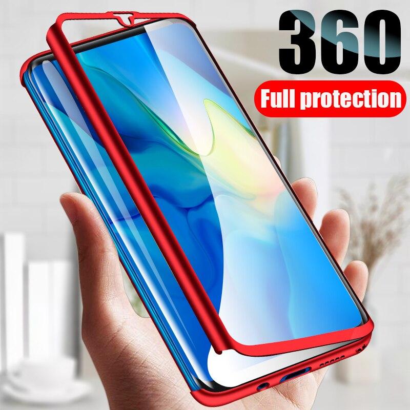 360 Tampa de Vidro completa phone Case Para iphone 5 5S SE 6 6S 7 8 Plus Com Vidro Temperado para X XS 11 Pro MAX XR Capa Protetora