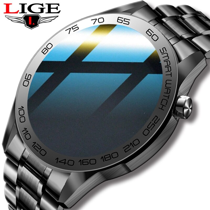 2021 LIGE جديد الرجال ساعة ذكية النساء الرياضة اللياقة البدنية سوار ساعة الساعات ل أندرويد IOS شاومي المياه واقية Smartwatch الرجال + صندوق