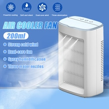 3 in 1 Portable Air Cooler Fan Mini USB Air Conditioner Desktop Air Cooling Fan Humidifier Purifier For Office Bedroom