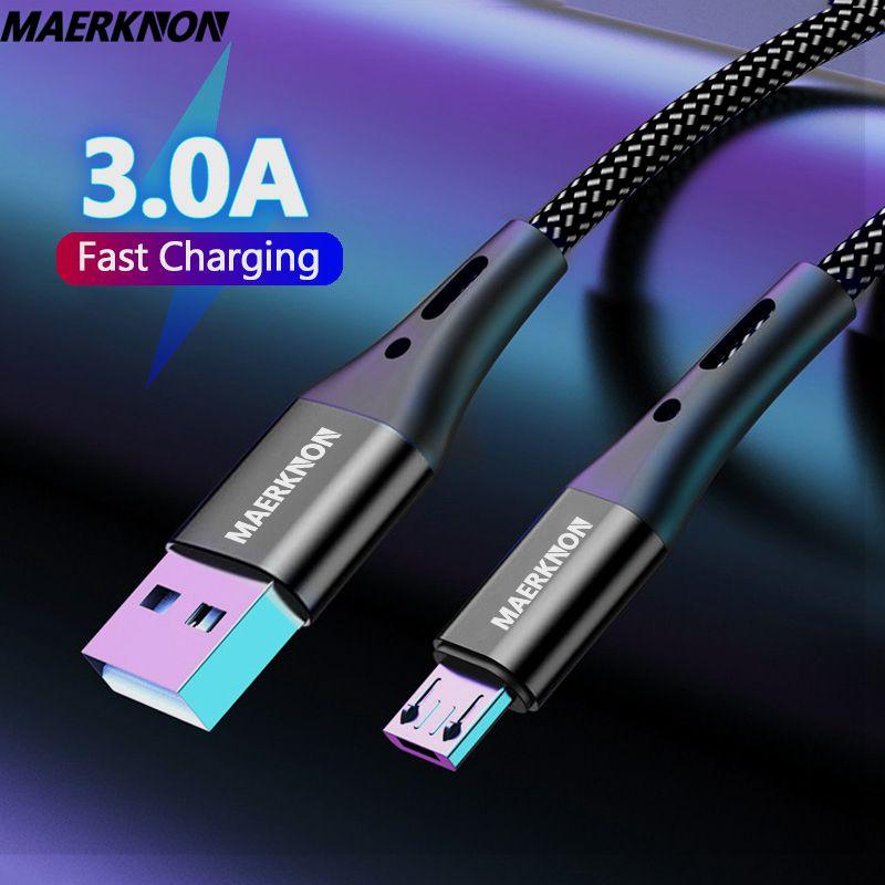 Cable Micro USB de carga rápida para móvil, Cable de datos de...