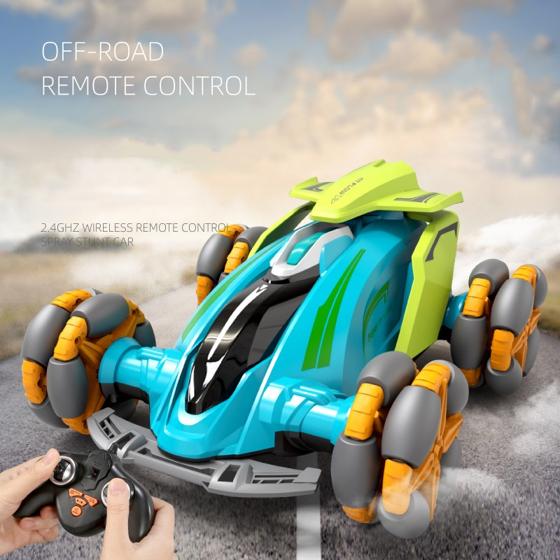 2021 NEW Remote Control Off-road Car Toy Drift Stunt Mist Spray Car Toy For Children 360 Degrees Rot