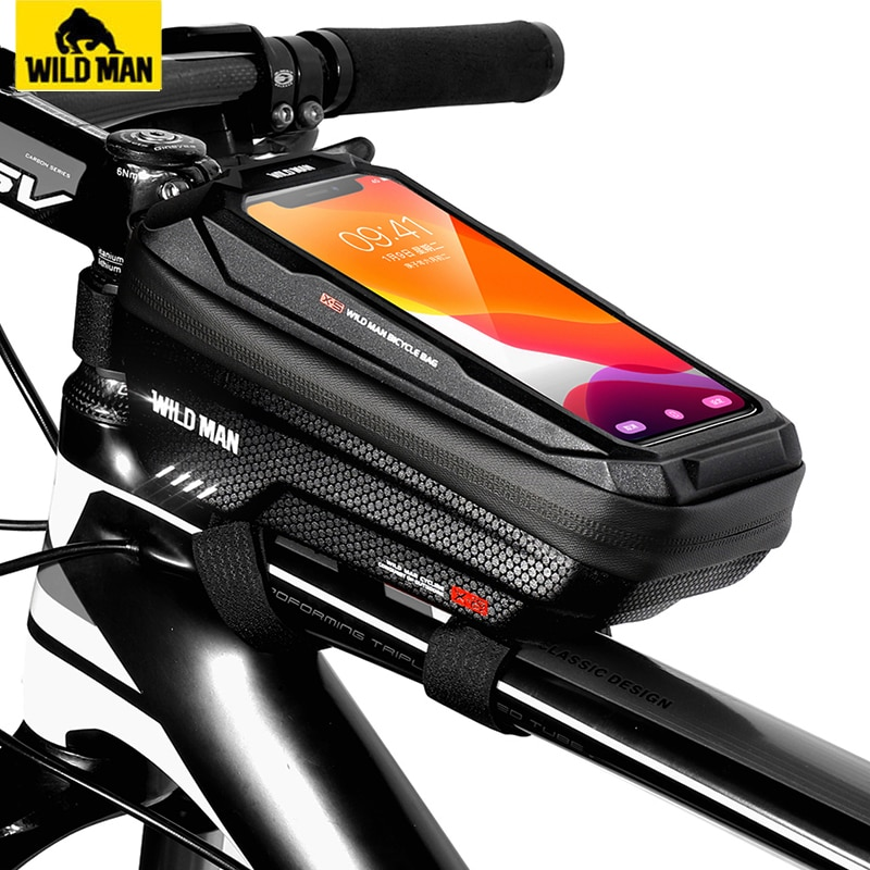 AliExpress - WILD MAN Bike Bag Front Cycling Bag Rainproof Touch Screen Bicycle Phone Bag 6.5 Inch Mobile Phone Case Mtb Accessories
